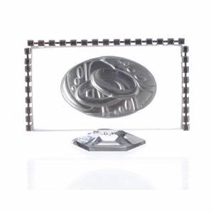 Bomboniere e ricordini: Quadretto con ovale Fedi e strass 8x4,5cm