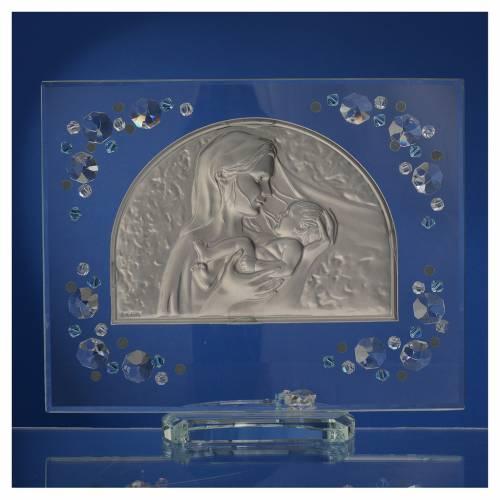 Quadro arco immagine Maternità Swarovski acquamarina s4