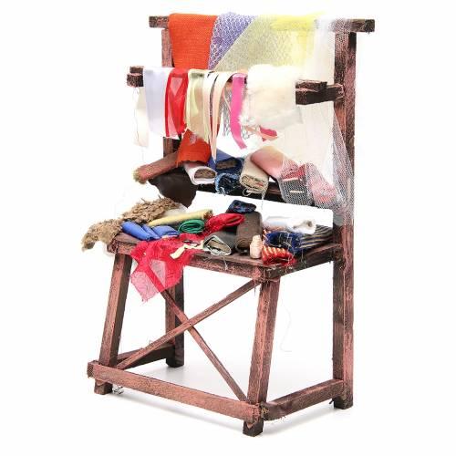 Rag seller stall for nativities measuring 39x25x14cm s2