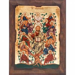 Íconos Pintados Grecia: Árbol de Jesús y los doce apóstoles