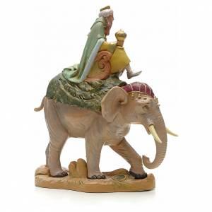 Re Magio bianco su elefante 19 cm Fontanini s2