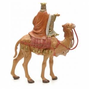 Re magio bianco su cammello 19 cm Fontanini s2