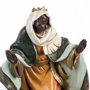 Statue per presepi: Re Magio nero presepe Fontanini 45 cm