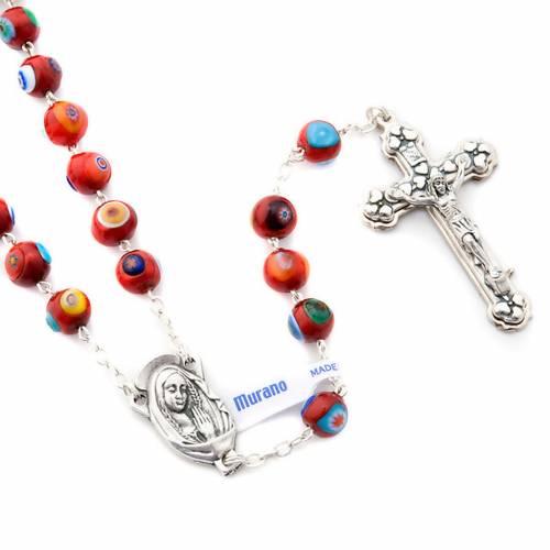 Red Murano glass rosary s3