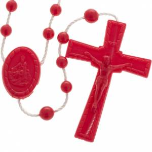 Economical rosaries: Red nylon rosary
