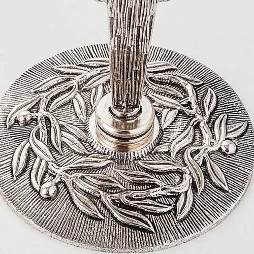 Reliquiario argentato con foglie s7