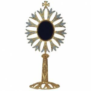 Reliquary in golden silver 800 filigree, 25 cm - 123,5 grams s1