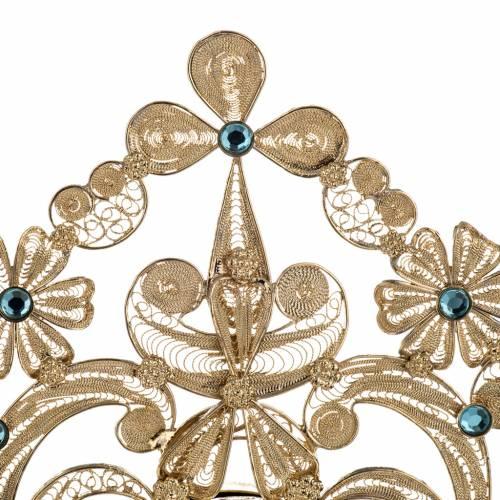 Reliquary in silver 800, golden filigree decoration, 36 cm s3