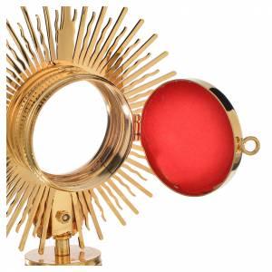 Reliquary, Sun model in golden brass H18cm s3