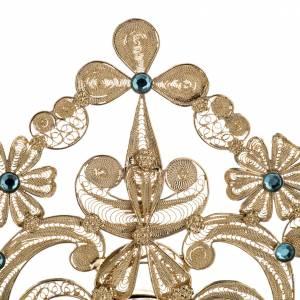 Reliquiario argento 800 filigrana bagno oro 36 cm s3