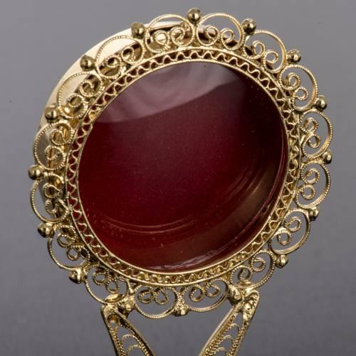 Reliquiario dorato filigrana arg. 800 s3