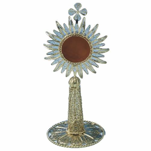 Reliquiario in argento 800 filigrana h 13 cm s1