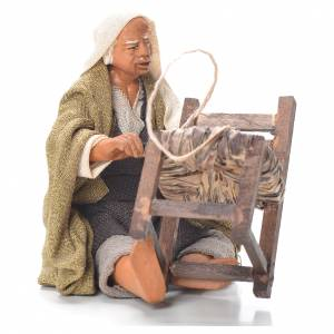 Réparateur de chaises assis 12 cm crèche napolitaine s1