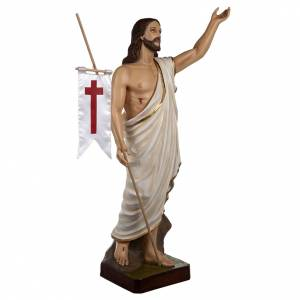 Resurrected Christ statue, 85cm in painted reconstituted marble s7