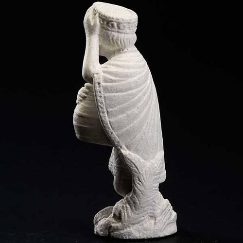 Rey Mago Africano para Pesebre de Otoño de piedra blanca 3