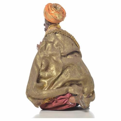 Rey Mago Negro Belén 13 cm Angela Tripi terracota s3