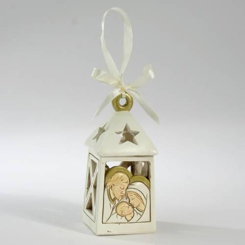 Ricordino matrimonio Lanterna Led Sacra Famiglia 10 cm s1