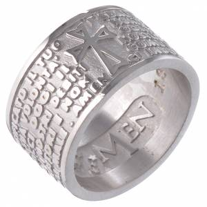 Ring AMEN Our Father ITALIAN Silver 925 s1