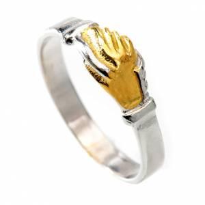 Gebetsringe: Ring Heilige Rita zweifarbig Silber 800