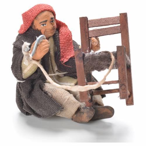 Riparatore di sedie seduto 10 cm presepe Napoli s1
