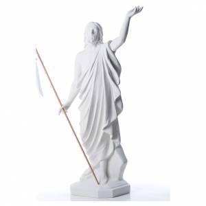 Reconstituted marble religious statues: Risen Jesus statue in reconstituded Carrara marble, 100 cm