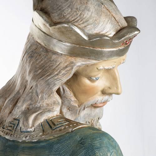 Roi Mage blanc crèche 180 cm résine Fontanini s8