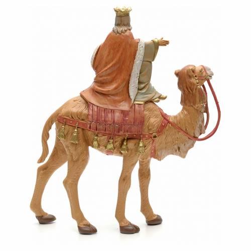 Roi Mage blanc sur chameau crèche Fontanini 19 cm s2