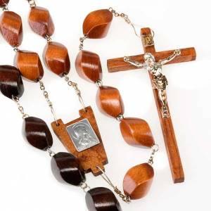 Rosari capoletto: Rosario capoletto legno grano intagliato 30 mm