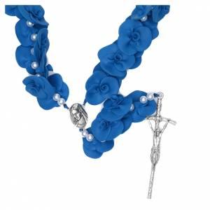 Rosari portarosari Medjugorje: Rosario Capoletto Medjugorje rose blu
