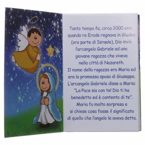 Rosario di Natale in cristallo con libretto preghiere natalizie ITA s6