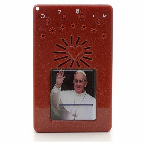 Rosario Elettronico Papa Francesco saluta rosso Coroncina s1