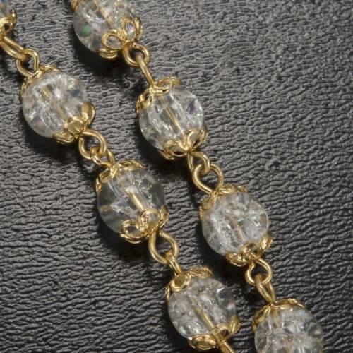 Rosario Ghirelli Lourdes dorado granos 6mm s5