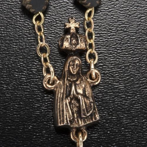 Rosario Ghirelli Madonna di Fatima nero e oro 8 mm s3