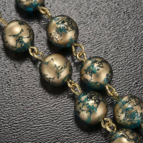 Rosario Ghirelli verde agua esmalte Gruta de Lourdes 8 mm s5