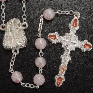Rosario Ghirelli vetro perlato rosa grotta Lourdes 7 mm s2