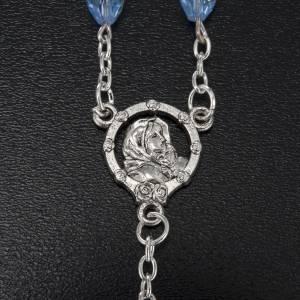 Rosario Madonna Ferruzzi vero cristallo azzurro 9x6 mm s3