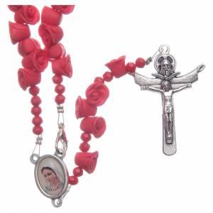 Rosarios y Porta Rosarios Medjugorje: Rosario Medjugorje rosas rojas cruz Jesús Resucitado