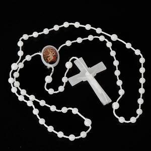 Rosario nylon bianco Gesù bambino Wettingen 5 mm s2