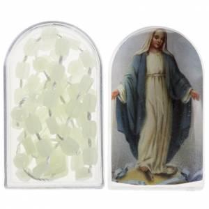 Rosari economici: Rosario nylon fosforescente Apri e Chiudi con scatolina