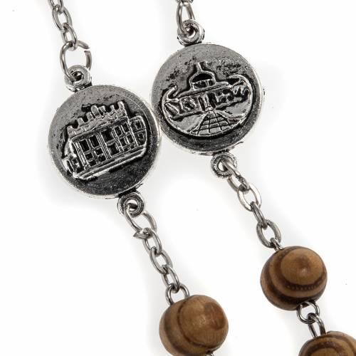 Rosario olivo medaglie Basiliche Roma 8 mm s3