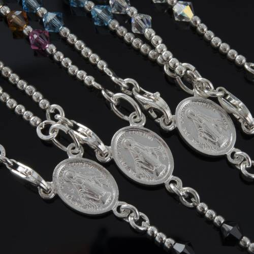Rosary, 800 silver and swarovski, 4 colors s4