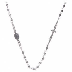 Pendants, crosses and pins: Rosary AMEN Necklace Pavè silver 925, Rhodium finish