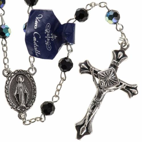 Rosary beads in crystal, 6mm, black s1