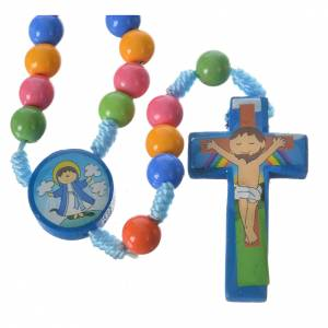 Rosary beads in multicoloured resin, 8mm s1