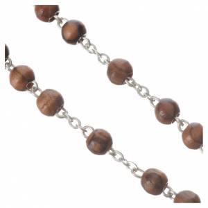 Rosary beads in Palestinian olive wood, metal crucifix 5 mm s3