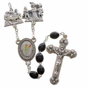 Rosary beads, stations of the cross, black s1