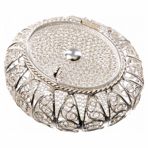 Rosary case box in 800 silver filigree s1
