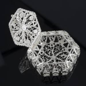 Rosary case, hexagonal in 800 silver s3