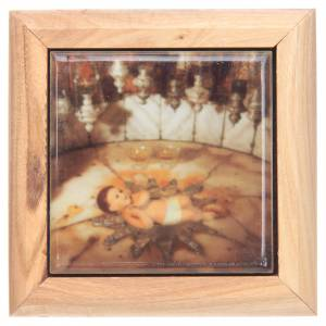 Rosary cases: Rosary case in olive wood, baby Jesus Bethlehem