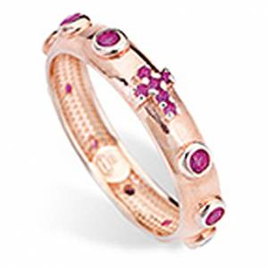 Rosary Ring AMEN rosè silver 925, red zircons s1